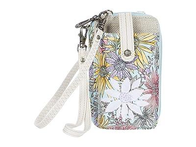 Sakroots Artist Circle Smartphone Wristlet (Pastel Flower Garden) Wristlet Handbags