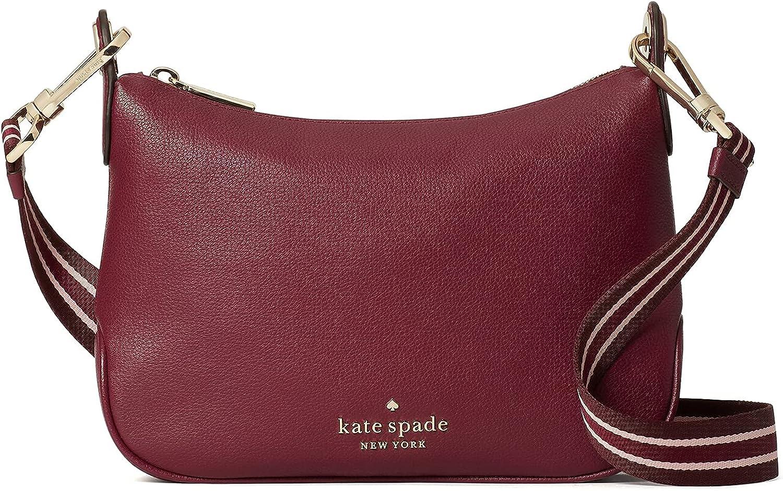 Kate Spade Rosie Leather Crossbody Bag Purse Handbag (BLACKBERRY PRESERVE)