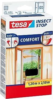 tesa® Insect Stop horren COMFORT voor deuren, antraciet, transparant, 1,20 m x 2,50 m (4-pack)