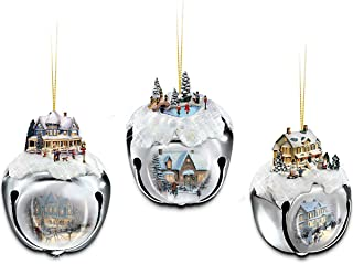Thomas Kinkade Sleigh Bells Christmas Tree Ornaments by The Ashton-Drake Galleries