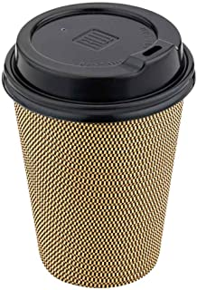 Black Plastic Coffee Cup Lid - Fits 8, 12 and 16 oz - 3 1/2