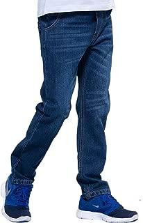 Boys' Kids' Elastic Waist Regular Fit Stretch Denim Jeans Blue