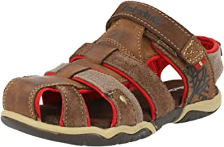 Timberland E6320 Sandalo Bimbo Brown Park Hopper Scarpe Shoe Kid boy