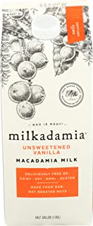 Milkadamia, Milk Macadamia Unsweetened Vanilla Dairy Free, 64 Fl Oz