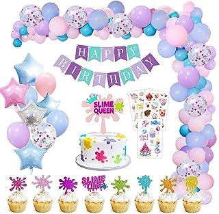 Decoraciones Cumpleaños de Fiesta, MMTX Cumpleaños Decoraciones Tema de Limo Primeros de la Torta y Tatuajes para Cumpleaños Baby Shower Partido Aniversario Boda