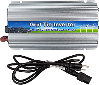 iMeshbean 1000W Grid Tie Power Inverter DC 10.8-30V /22V-50V to AC 110V / 220V MPPT Pure Sine Wave Inverter for Solar Panel System (DC 22V-50V-AC 110V)