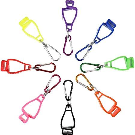 Details about  /Working Glove Clip Holder Safety Guard Interlock Clamp Grabber Carabiner Hook