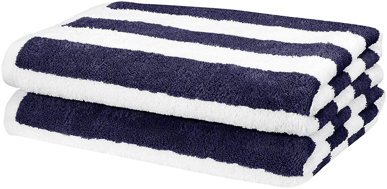 AmazonBasics Beach Towel Cabana Stripe