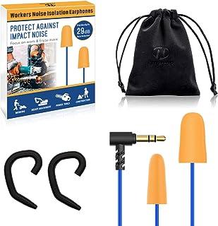 Hearprotek Foam Ear Plugs Headphones, Safety Work Ear Plug Earbuds Earphones for Hearing Protection Noise I...