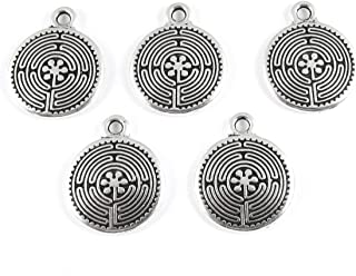 TierraCast Pewter Charms-Silver Labyrinth (5)