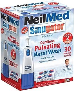 Sinugator Cordless Pulsating Nasal Wash Kit with One Irrigator, 30 Premixed Packets and 3 AA Batteries