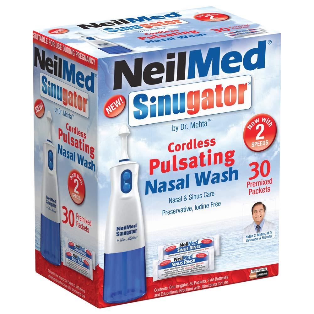 NeilMed Sinugator Cordless Pulsating Premixed