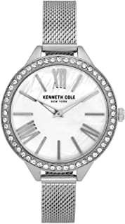 Kenneth Cole Women's Classic Mop Crystalized Steel KC51059001 Silver Stainless-Steel Quartz Fashion Watch