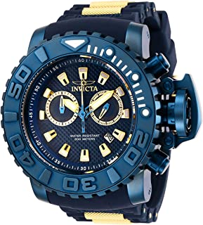 Invicta Men's Sea Hunter Stainless Steel Quartz Watch with Silicone Strap, Blue, 30 (Model: 27742)
