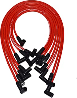 A-Team Performance Spark Plug Wire Set High Performance Fits Small Block Chevrolet Chevy GM 283 305 307 327 350 400 Red Silicone 8.0mm