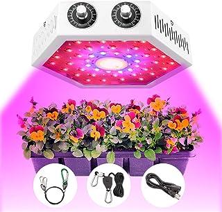 Moobibear Lámpara de planta LED, luz de crecimiento LED dual con atenuación VEG / BLOOM y espectro completo para plantas d...