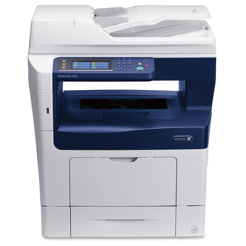 Xerox WorkCentre 3615DN Monochrome Laser Multifunction Printer/Copier/Scanner/Fax Machine, White/Blue