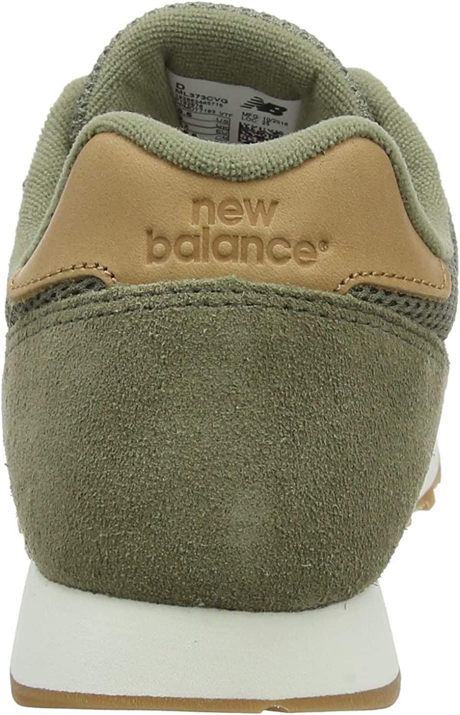 New Balance 373 Khaki Suede Trainers