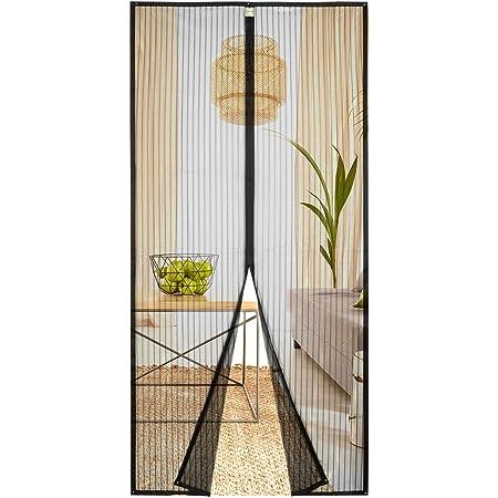 Passt T/ürgr/ö/ße bis zu Wei/ß Magnet Fliegenvorhang Anti-Mosquito Insekt H/ände frei CHENG Magnet Fliegengitter T/ür 145x215cm