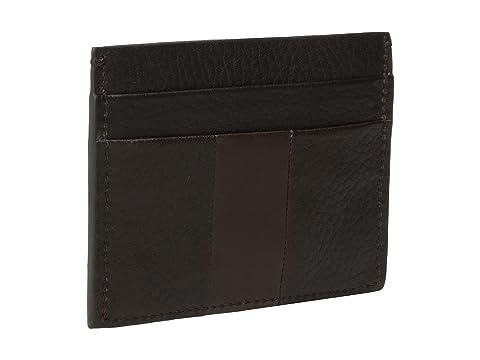 cinco Shinola con color Hardware Detroit Estuche tarjetas Bolt bolsillos para marrón oscuro qxrTCf0q6w