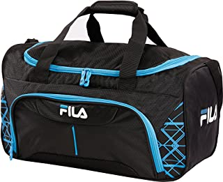 Fastpace Small Sports Duffel Bag Gym, Black/Blue, One Size