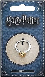 Harry Potter - Anillo oficial de acero inoxidable dorado