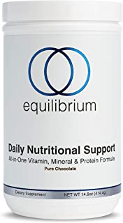 Equilibrium NutritionDaily Nutritional Support|All in One -Plant Based Protein Powder | Multivitamin, Minerals, Antioxidants| Organic, Dairy Free, Chocolate