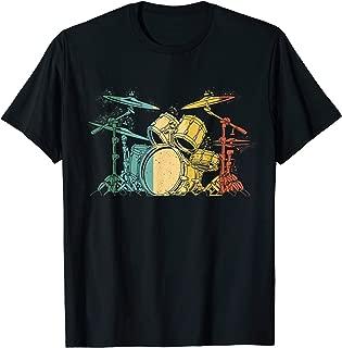 Drummer Vintage Drumset Funny Drummers Drumming Drum Set T-Shirt
