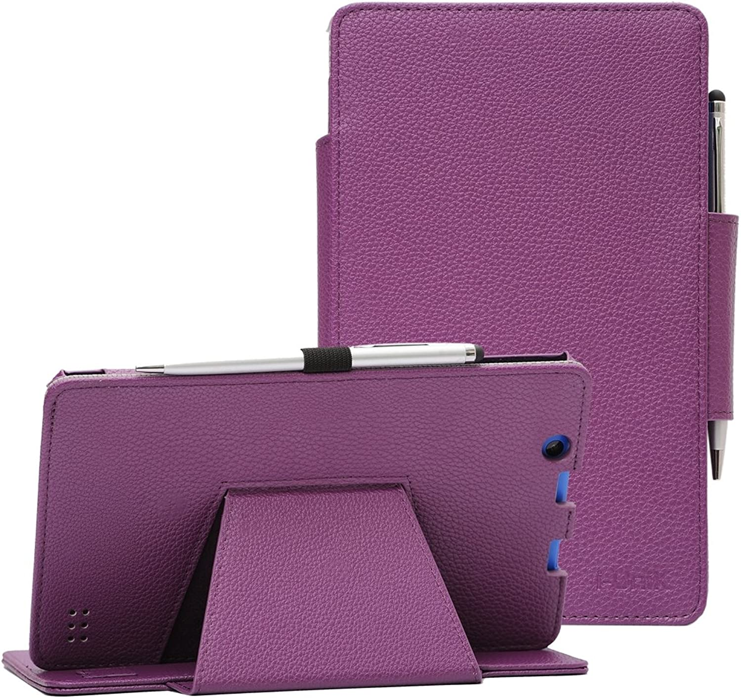 Nextbook Ares 8A case, i-UniK Nextbook Ares 8A Model  NX16A8116 K R B S Android 6.0 Tablet Cover CASE [Bonus Stylus] (Purple)