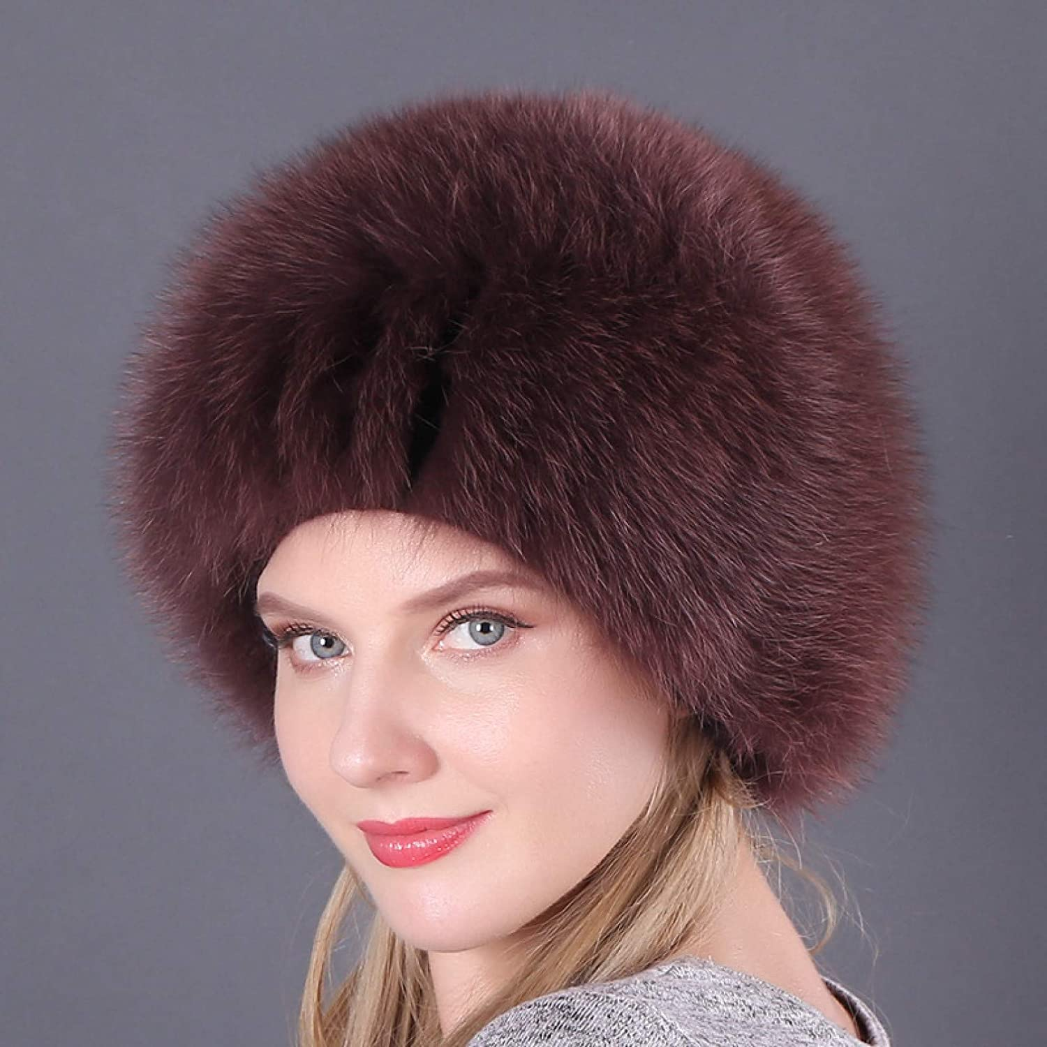BELEMON Bomber Women Winter Hat Real Fur service Thick Today's only Lady Warm