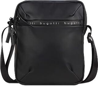 Bugatti Blanc Kleine Umhängetasche für Herren, Schultertasche Messenger Bag Kuriertasche, Schwarz