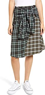 French Connection Womens Este Plaid A-Line Skirt