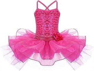 Little Girls Toddler Flower Sequins Camisole Ballet Dance Leotard Tutu Skirt Princess Ballerina Glittering Dancewear Costume