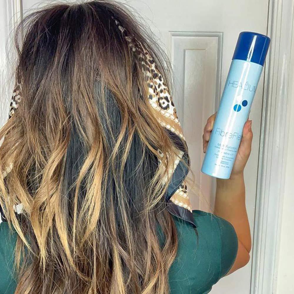 Healium FibreFlex Texturizing Spray –Gel Spray for Styling, Finishing, Scrunching, Curl Defining, Sculpting, Volume Texture Gel Mist for Thin, Fine Hair with Sunscreen, 10 ounce