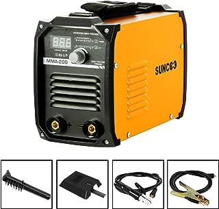 SUNCOO IGBT ARC Welding Machine 200AMP Stick DC Inverter Welder MMA200, Dual Voltage 110/220V, LED Digital Display, Light Weight and Mini Size Portable Design