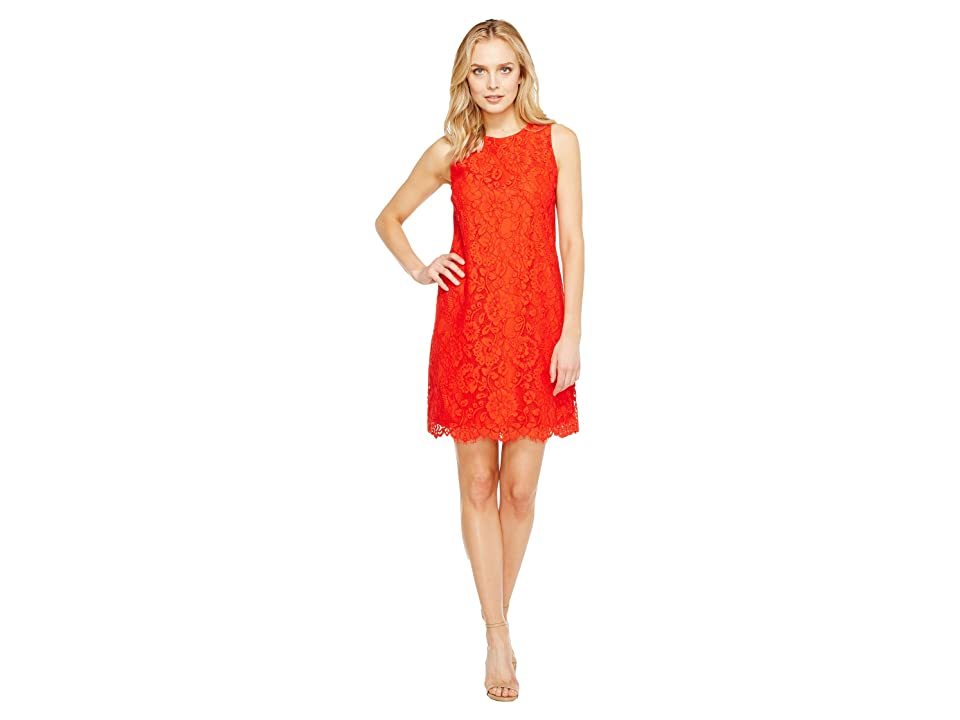 CeCe Arlington Sleeveless Floral (Fiery Red) Women