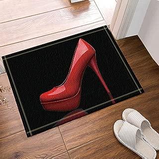 23.6 X 31.5 in,Bathroom Accessories Vector Fashion Girl Decoration,Butterfly Flying High Heels Pink Woman Bath Carpet,Indoor Non-Slip Door Mat,Childrens Bathroom Carpet