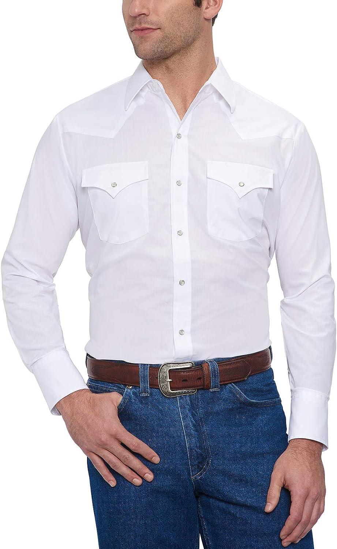 ELY CATTLEMAN Men's Long Sleeve Solid Western Shirt
