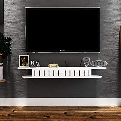 YYHSND Ledge Wall Hanging TV gabinete Consola TV Fondo decoración de la Pared Marco Set-Top Box Router DVD Consola ...