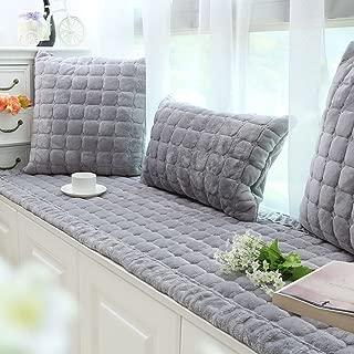 DM&XJ Plush Window seat Cushions Indoor,Non-Slip Bay Window pad,Bay Window Cushion,Solid Color Thickened Balconies mat,Machine Washable-D 70x210cm(28x83inch)