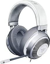 Razer Kraken Gaming Headset: Lightweight Aluminum Frame - Retractable Cardioid Mic - for PC, Xbox, PS4, Nintendo Switch - 3.5 mm Headphone Jack - Mercury White