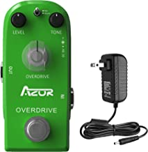 AZOR Mini Pedal Drive Classical Overdrive Guitar Effect Pedal with Power Adapter True Bypass Hot/Warm Modes AP-315