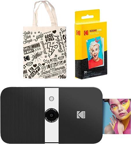 discount KODAK sale Smile Instant sale Print Digital Camera (Black/White) Tote Bag Kit sale
