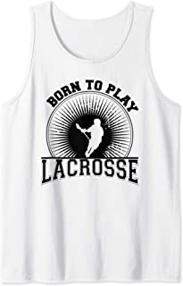 Retro Lacrosse design gift, Born To play Lacrosse graphic Tank Top