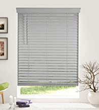 Arlo Blinds Cordless 2 Inch Faux Wood Horizontal Blinds - Size: 19