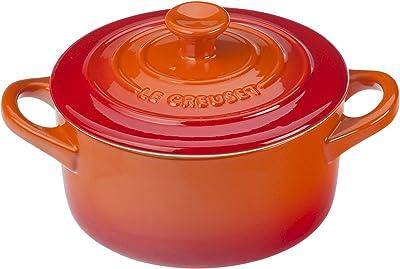 Le Creuset Stoneware Mini Round Cocotte, 8 oz., Flame