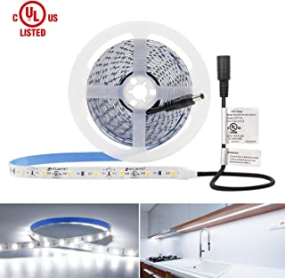 LED Light Strip, HitLights Neutral White Premium 3528-16.4 Feet, 300 LEDs, 4000K, 82 Lumens per Foot. UL-Listed. 12V DC Tape Light