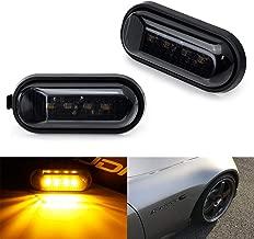 iJDMTOY JDM Smoked Lens Amber Full LED Front Side Marker Light Kit For 2000-2009 Honda S2000, Replace OEM Amber Sidemarker Lamps
