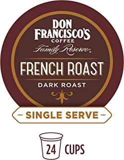 Don Francisco's French Dark Roast (24 Count) Single-Serve Coffee Pods, Compatible with Keurig K-Cup Brewers