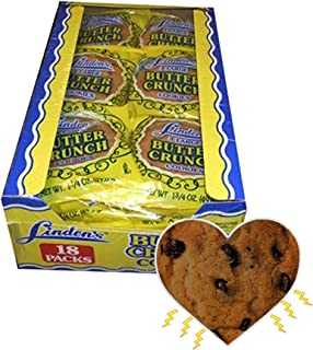 Linden's Butter Crunch Cookies- 3 Cookies Per Pack- 18 Packs - With Exclusive InPrimeTime Cookie Heart Magnet